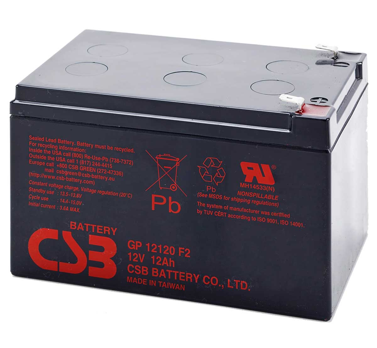 12v 12ah csb battery experts. Black Bedroom Furniture Sets. Home Design Ideas