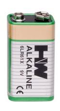 Alkaline 9v Hi Watt  Bulk